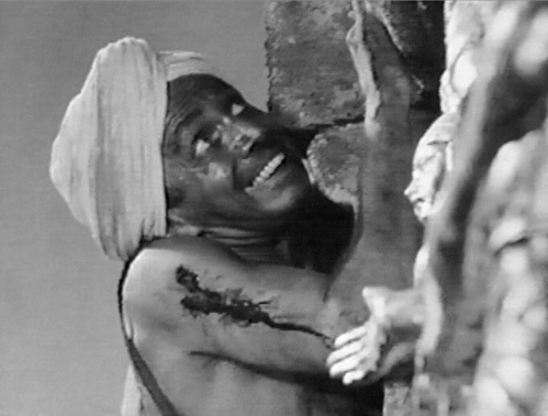 Sam Jaffe as Gunga Din in the film based on the Kipling poem, 1939